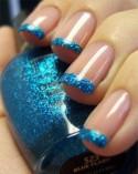 sparkley blue nails